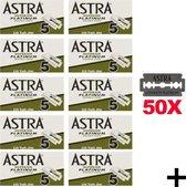 Astra Superior Platinum Scheermesjes - Double Edge Blades - Shavette - Safety Razor Blades - 50 stuks