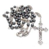 Rozenkrans- Obsidiaan - steen-Zwart-Gebedssnoer- Charme Bijoux