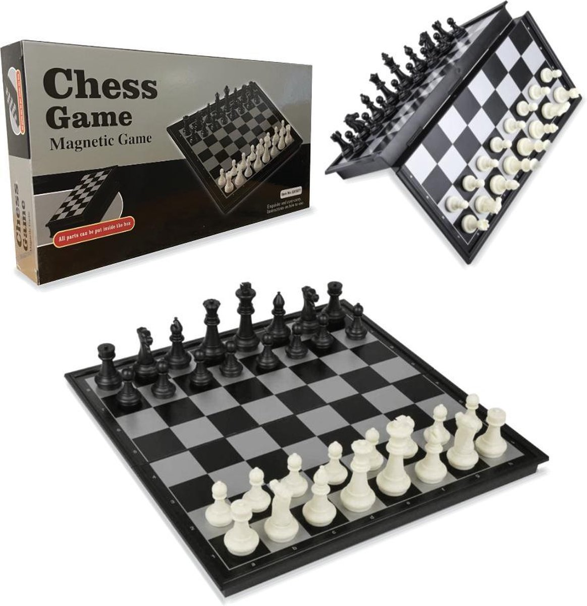 VoordeelShop Schaakbord Magnetisch - Opklapbaar Met Schaakstukken - 32cm x 32cm - Schaakspel - Dambord - Bordspellen - Spellen