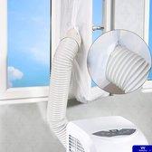 Airco raamafdichting inclusief Nederlandse handleiding - Tegen insecten - Transparant - 400cm