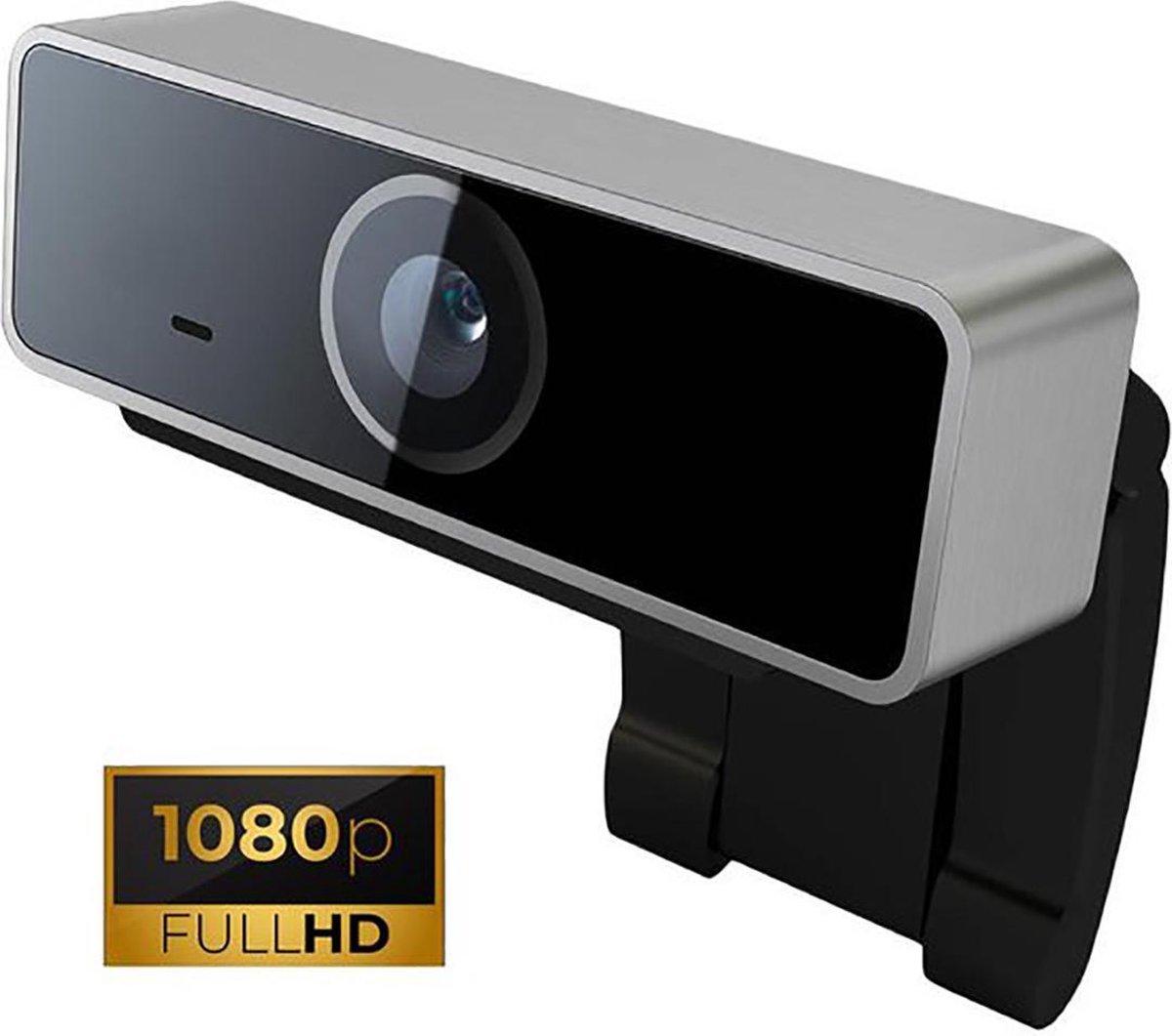 Creactive® Webcam met Ingebouwde Microfoon en Standaard, Full HD 1080p Camera - Voor PC, Desktop, Laptop, TV, Bellen, Gamen, Skypen, Streamen, Zoom, Youtube, Facetime, Computer - Met USB Plug en Play
