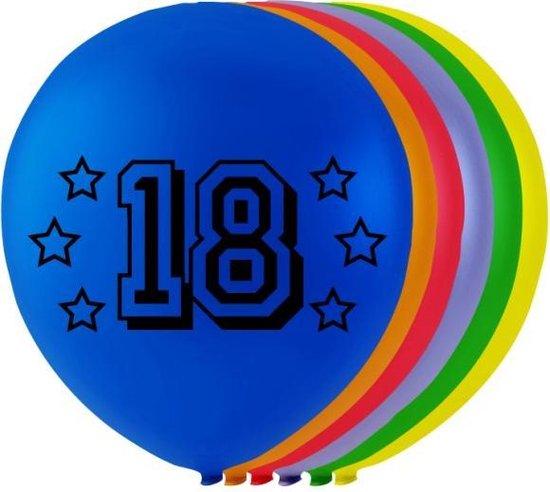 Globos Ballonnen Cijfer 18 Latex 80 Cm 8 Stuks
