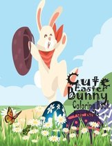Cute Easter Bunny Coloring Book For Kids 4-8