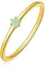 Petit Comité Vintage Hammered Gouden Ring Aquamarijn (56 mm)