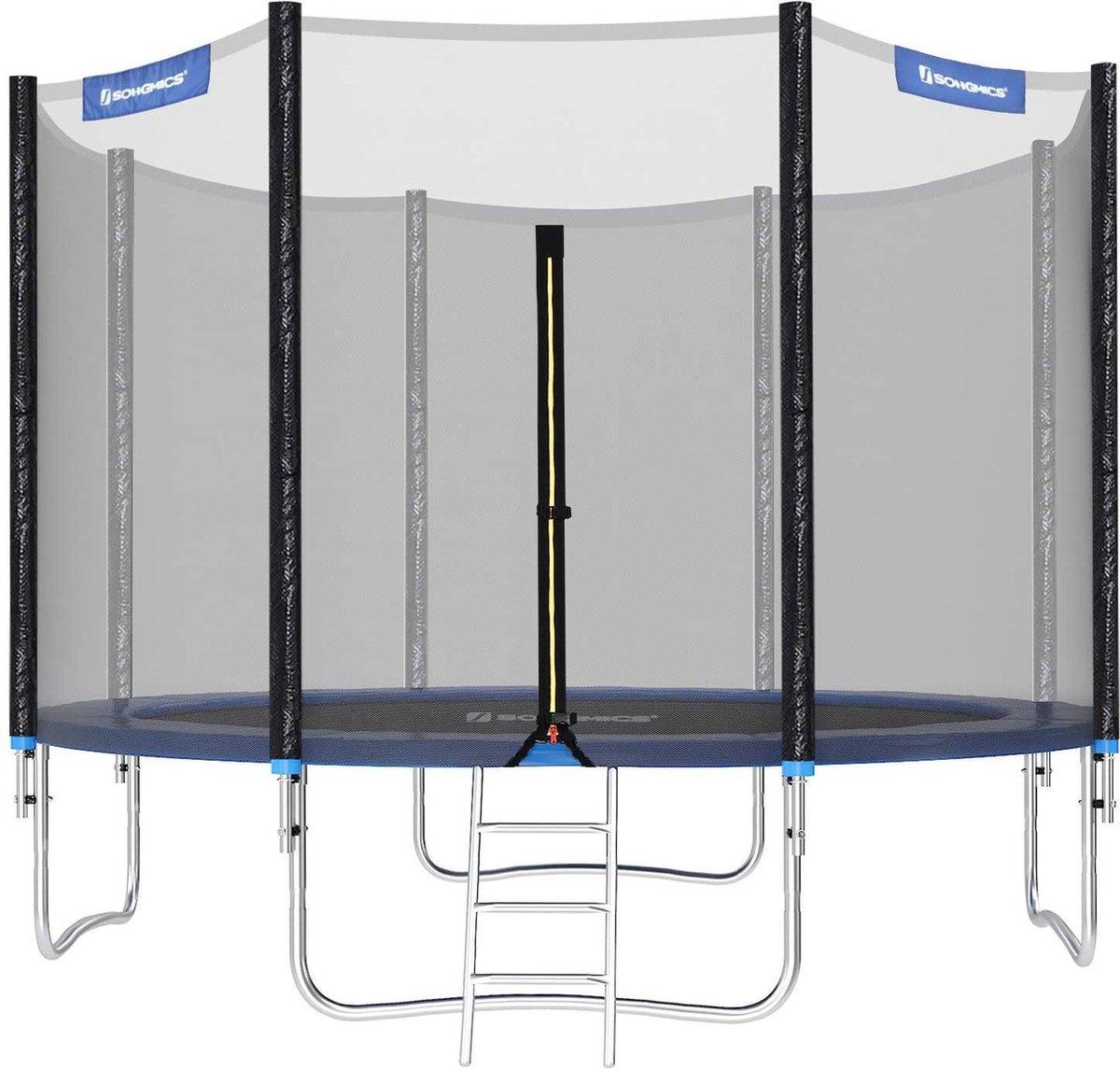 Trampoline met Veiligheidsnet - Ø 305 cm - met Ladder - Buiten - Veilig - Blauw