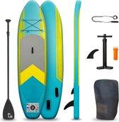 BluMill Sup Board - Opblaasbaar - 300 cm - Stand Up Paddle Board - met Enkelkoord - Inclusief Pomp - Duurzaam en Stevig - max 100kg