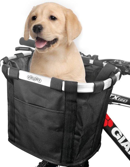 Foumt - Hondenfietsmand - Hondenfietsmand voorop - Fietsmand - Hondenmand - Hond - Zwart