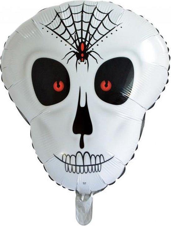Wefiesta Folieballon Schedel 62 X 50 Cm Wit/zwart