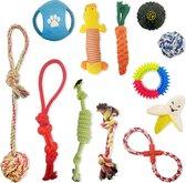 Honden Speelgoed Set - 12 Honden Speeltjes - Middel Groot en Puppy -...