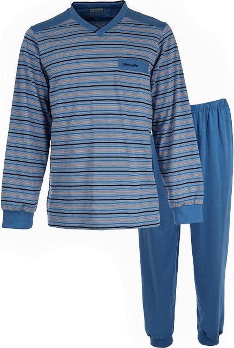 Gentlemen heren pyjama   MAAT XXL   Summer stripes V-hals   jeans