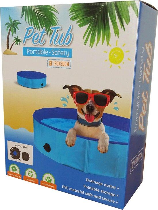 hondenzwembad 120 x h30 cm -zwembad voor honden - honden zwembad- hondenbad
