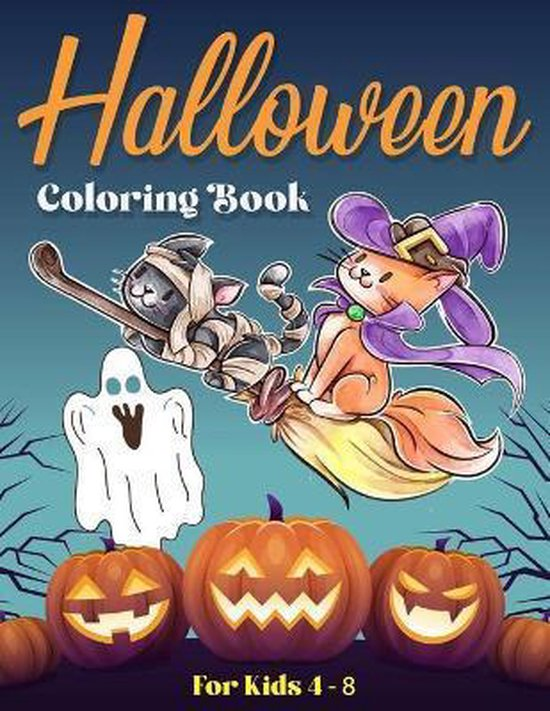 Halloween Coloring Book For Kids 4 - 8