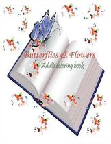 butterflies & flowers adults coloring book
