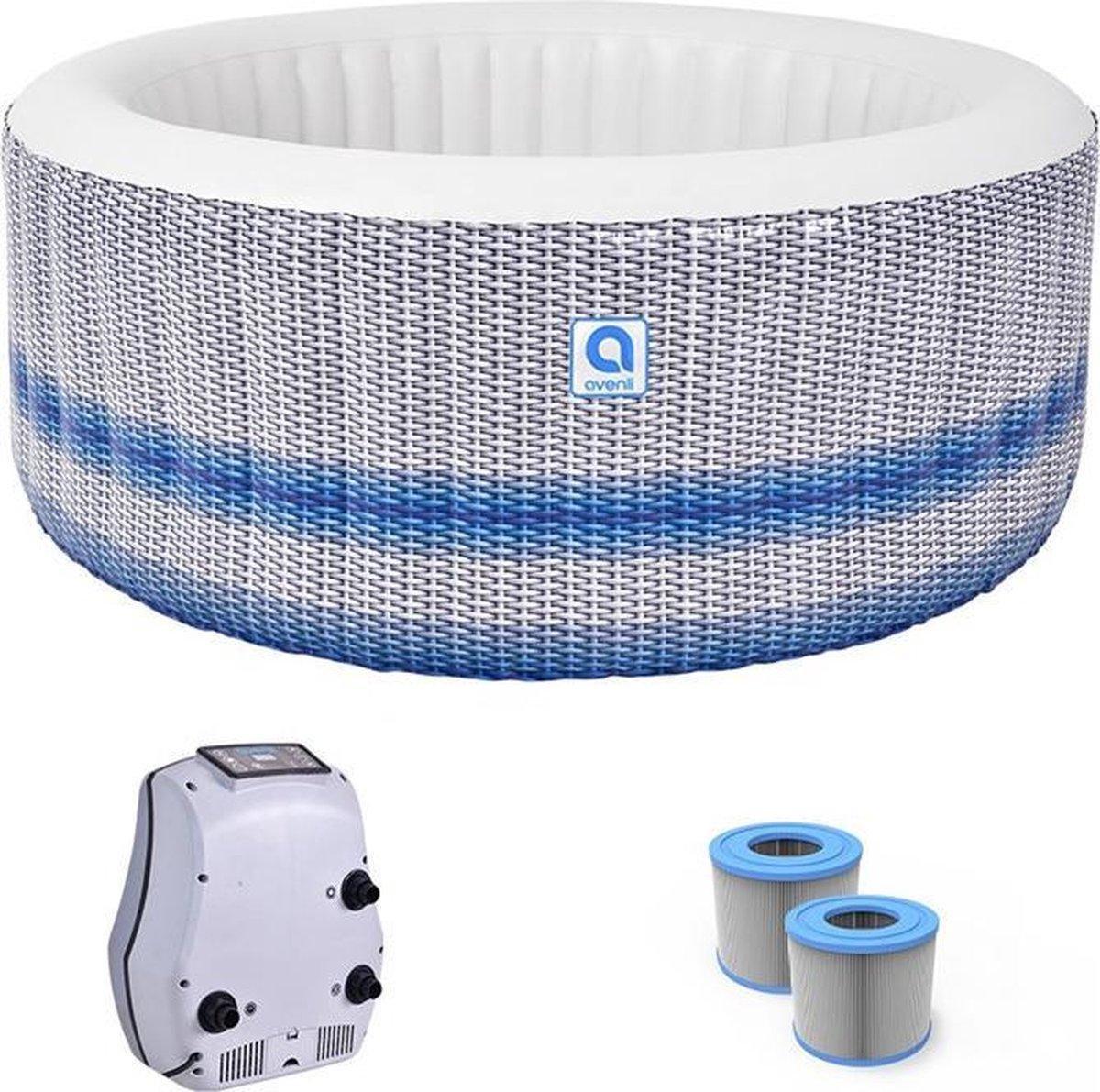JTEX® Opblaasbare jacuzzi - Avenli Venice Spa - Bubbelbad voor 4 personen - Inclusief grond/afdekzeil + extra filter - Relaxen - Ontspannen - Hottub - Zwembad