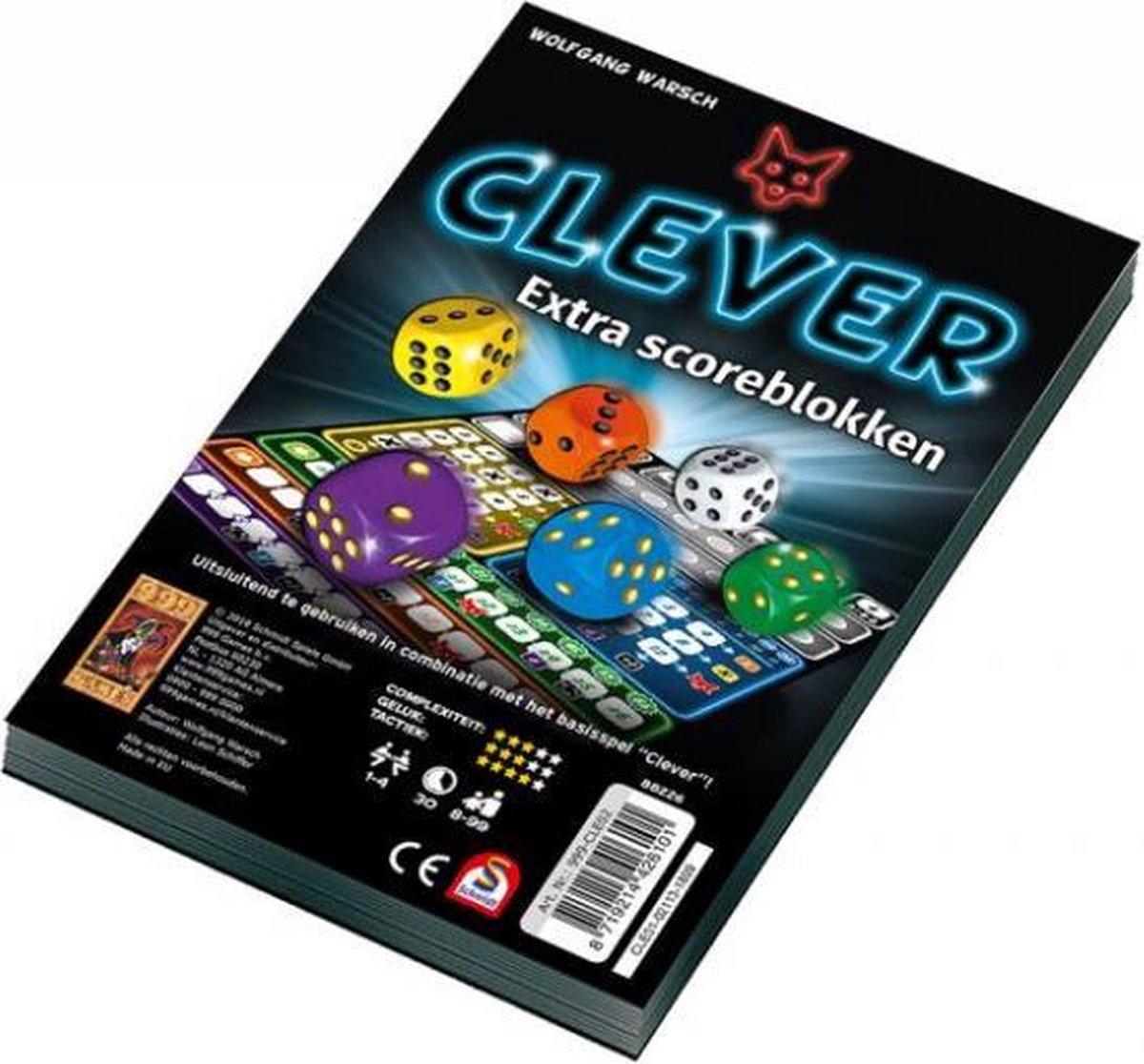 Spel - Dobbelspel - Clever - Extra scoreblokken - 2st.