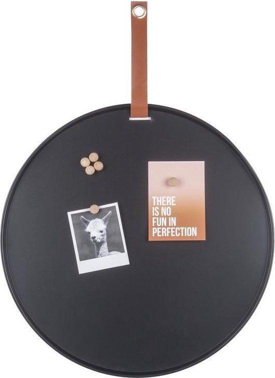 Afbeelding van Magneetbord - Rond - Memobord - Zwart
