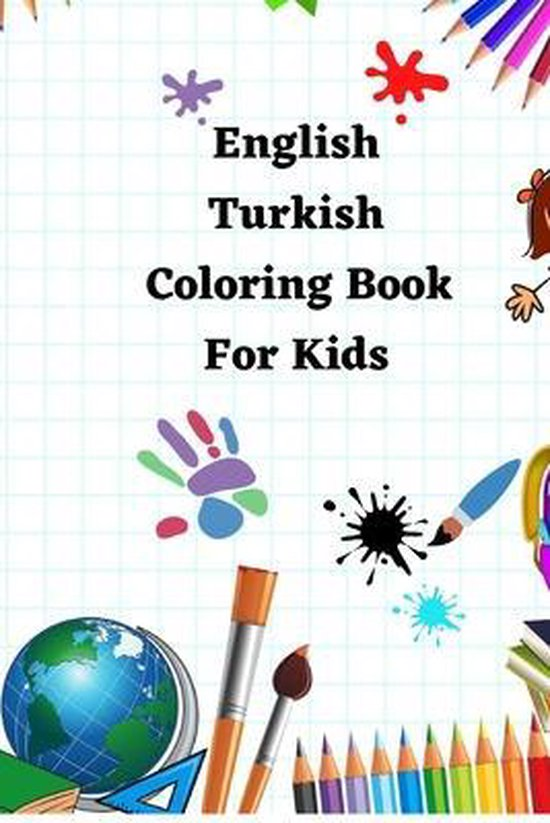 English Turkish Coloring Book For Kids