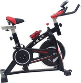 ISE BANGKOK / SY-7802 Hometrainer - Fietsen - Biking - Spinning - Stille fiets - Hartslagmeter - Fitness - Cardio training - Vliegwiel 10 Kg. - Zwart