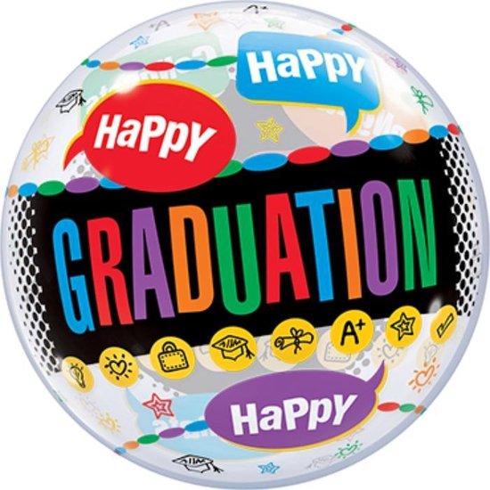 Bubbles ballon - Happy Graduation 56 cm