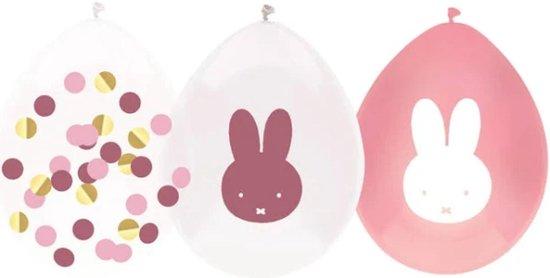 Ballonnen - Nijntje - Baby roze - 5st.