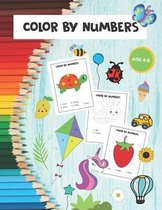 Color by Numbers: Fun Activity Coloring Book for Kids Ages 4-8