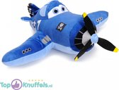 Disney Planes Pluche Knuffel Skipper Riley (Blauw) 30 cm | Disney Plush Toy Wings | Speelgoed knuffelpop voor kinderen jongens meisje baby | Vliegtuig knuffel