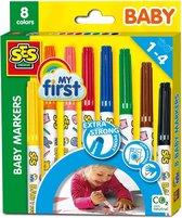 SES Baby Markers -Viltstiften 8 stuks