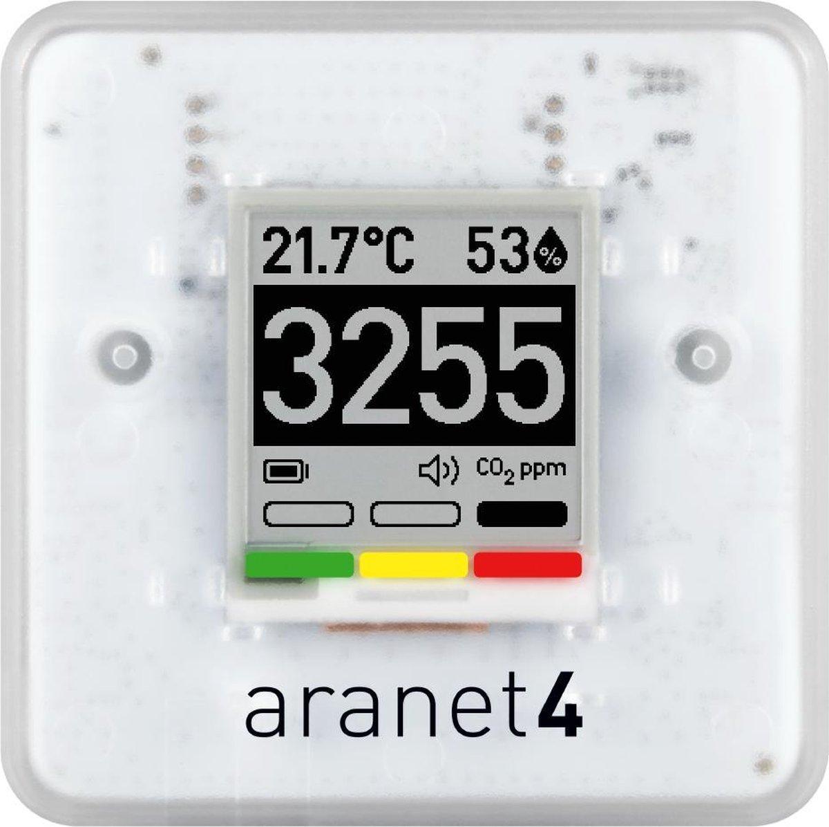 CO2 meter Aranet4  De enige CO2 meter die langdurig op batterijen werkt (minimaal 1 jaar met 2 AA pe