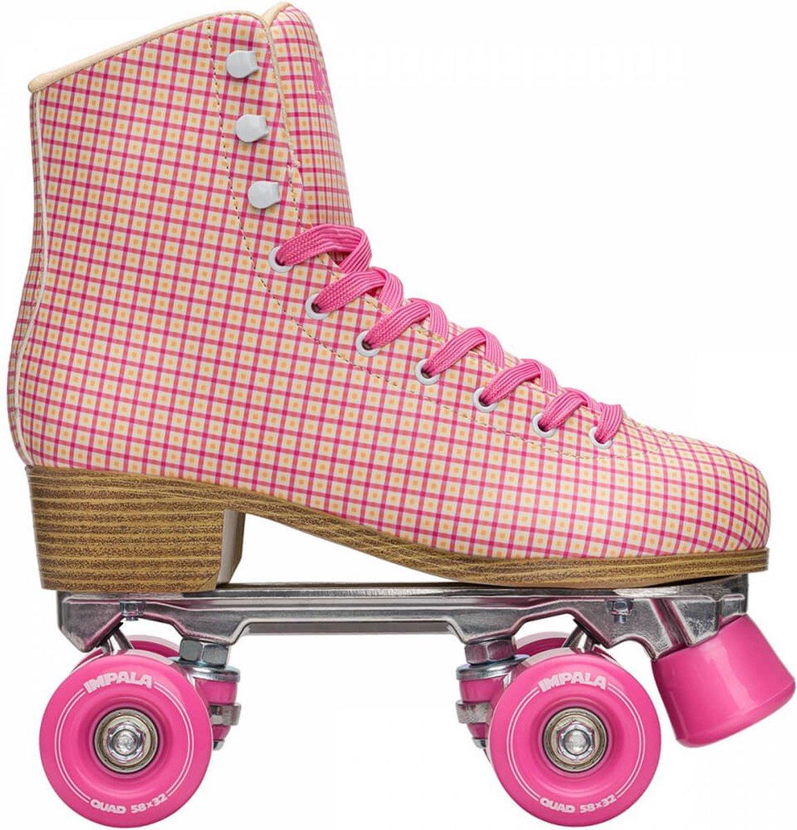 Impala Rolschaatsen - Maat 37Kinderen en volwassenen - roze - geel - wit