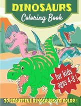 DINOSAURS - Coloring Book - for kids ages 4-8 !