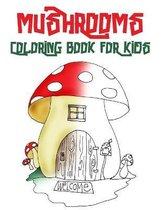 Mushrooms Coloring Book for kids
