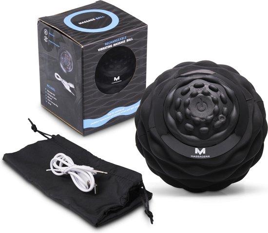 Massagerr® Vibrerende Massagebal - Triggerpoint Bal - 4 Tril Niveaus - Zwarte Massage Bal