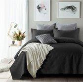 Sleeptime Bedsprei Art - 260 x 250 + 2 kussenslopen 60x70 - Zwart
