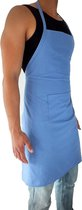 Sens Design Volledig Keukenschort mannen en vrouwen - katoen - blauw