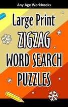 Large Print Zigzag Word Search Puzzles