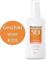 Biodermal Zonnebrand spray voor de gevoelige huid SPF 50+ - 175ml - Zonnespray - ook geschikt voor kinderen
