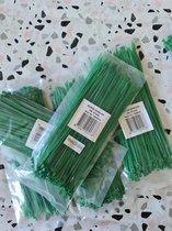 100x stuks kabelbinder/kabelbinders nylon groen 2.5x200mm/ bundelbandje/ tiewraps/ tie ribs