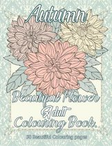 Autumn Beautiful Flower Adult Colouring Book