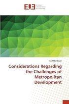 Considerations Regarding the Challenges of Metropolitan Development