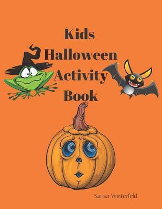 Kids Halloween Activity Book