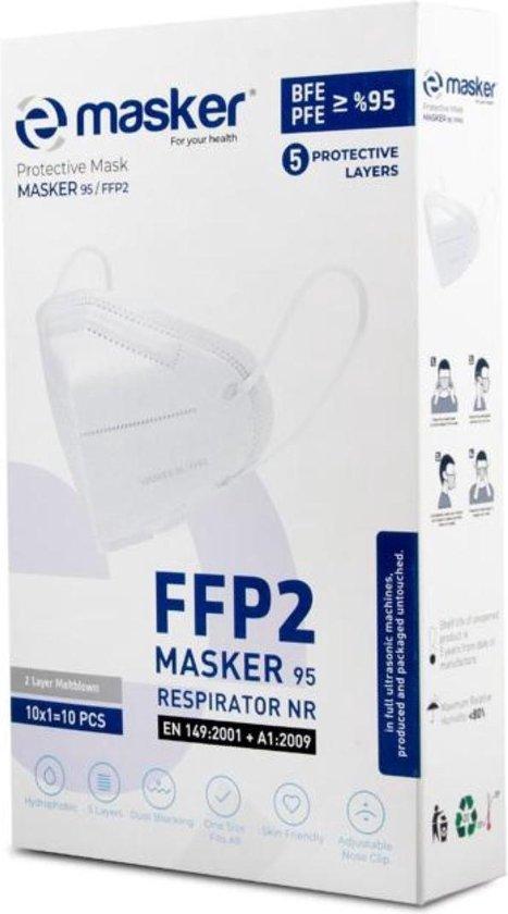 FFP2 mondkapje - CE-gecertificeerd - Per stuk verpakt - 20 stuks