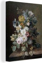 Canvas Schilderijen - Stilleven met bloemen - Schilderij van Eelke Jelles Eelkema - 60x80 cm - Wanddecoratie
