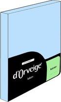 D'Orveige Laken Katoen - Eenpersoons - 160x270 cm - Licht Blauw