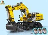 RC LIEBHERR R980 Rupskraan Kraan Graafmachine Technic Technisch MOC Bouwpakket - 2071 Bouwstenen - Lego® Compatibel - Toy Brick Lighting®