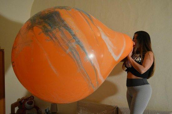 Zuid Amerikaanse 38 inch reuze ballon met lange nek - 95 cm diameter - marmer kleuren - grote ballonnen