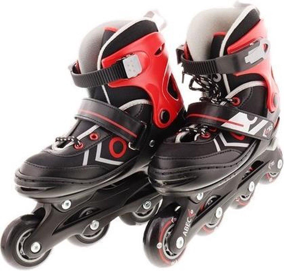 Verstelbare inline skates (MAAT 34 - 37) Buitensport skates Zwart/Rood