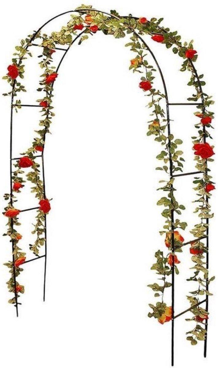 Pro Garden Rozenboog - Tuindecoratie - 240 x 140 cm - Metalen Frame