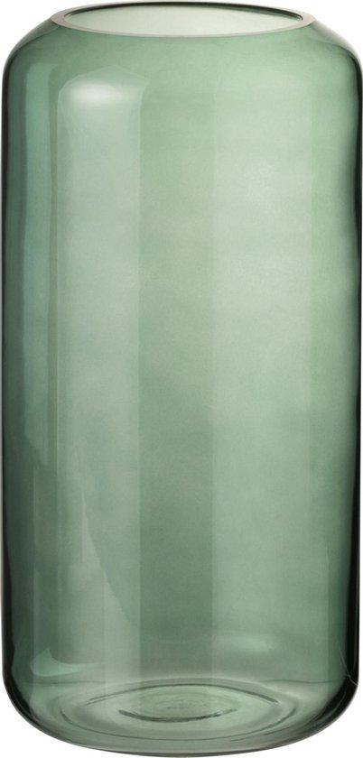 J-Line Vaas Rond Hoog Groen Glas Small