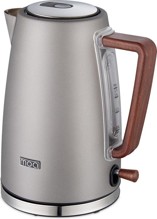 MOA Waterkoker 1,7 liter Modern - Elektrisch - Titanium- EK1BTN