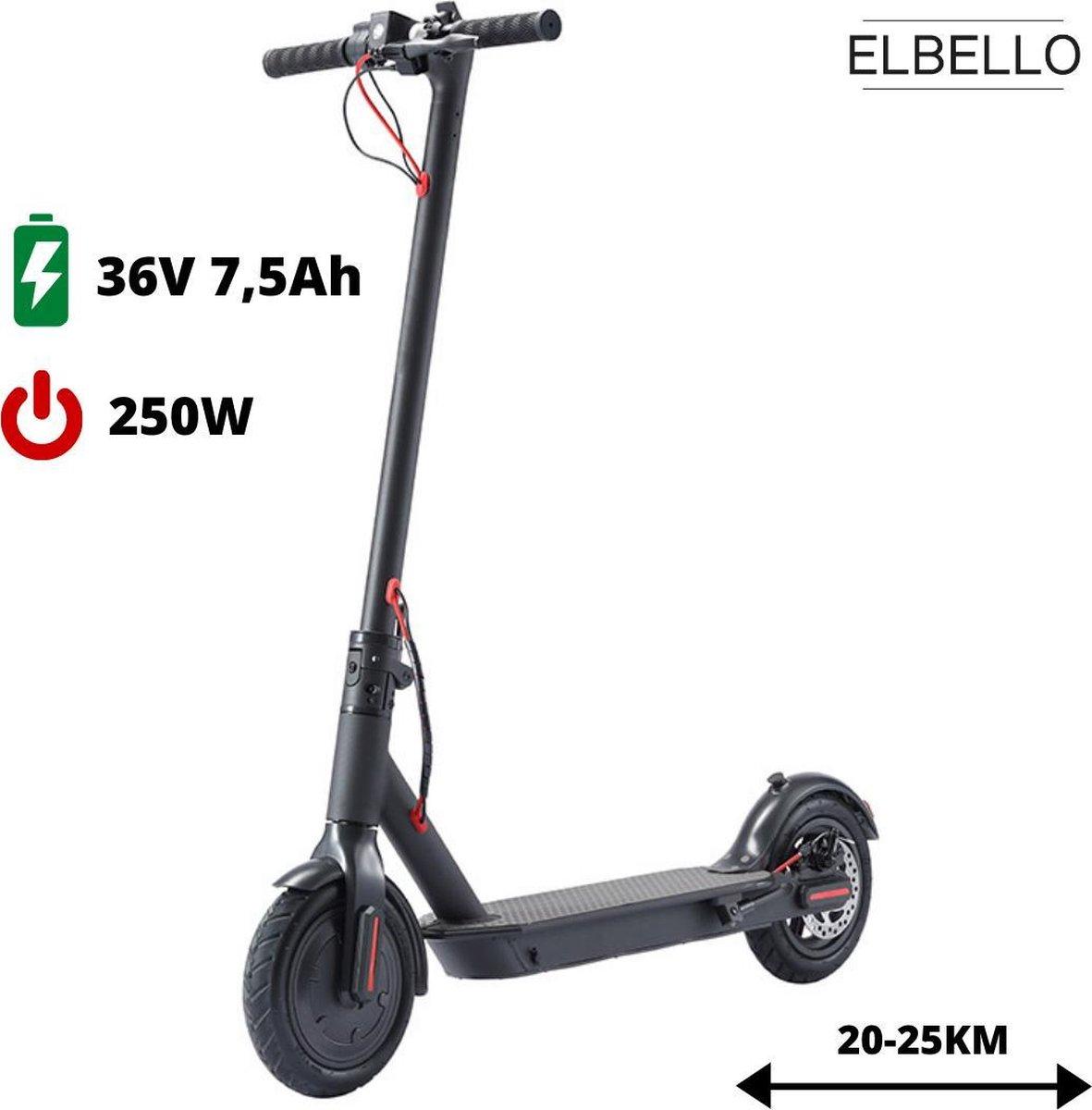ELBELLO H7 - Elektrische step - 25km/h - 250W (350W piek voor bergop) - opvouwbaar - xiaomi look